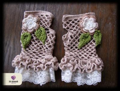 luvas rendadas sem dedos luvas linha,renda,pedrarias crochet