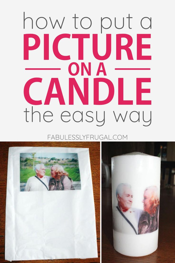 How to put a picture on a candle with wax paper wax