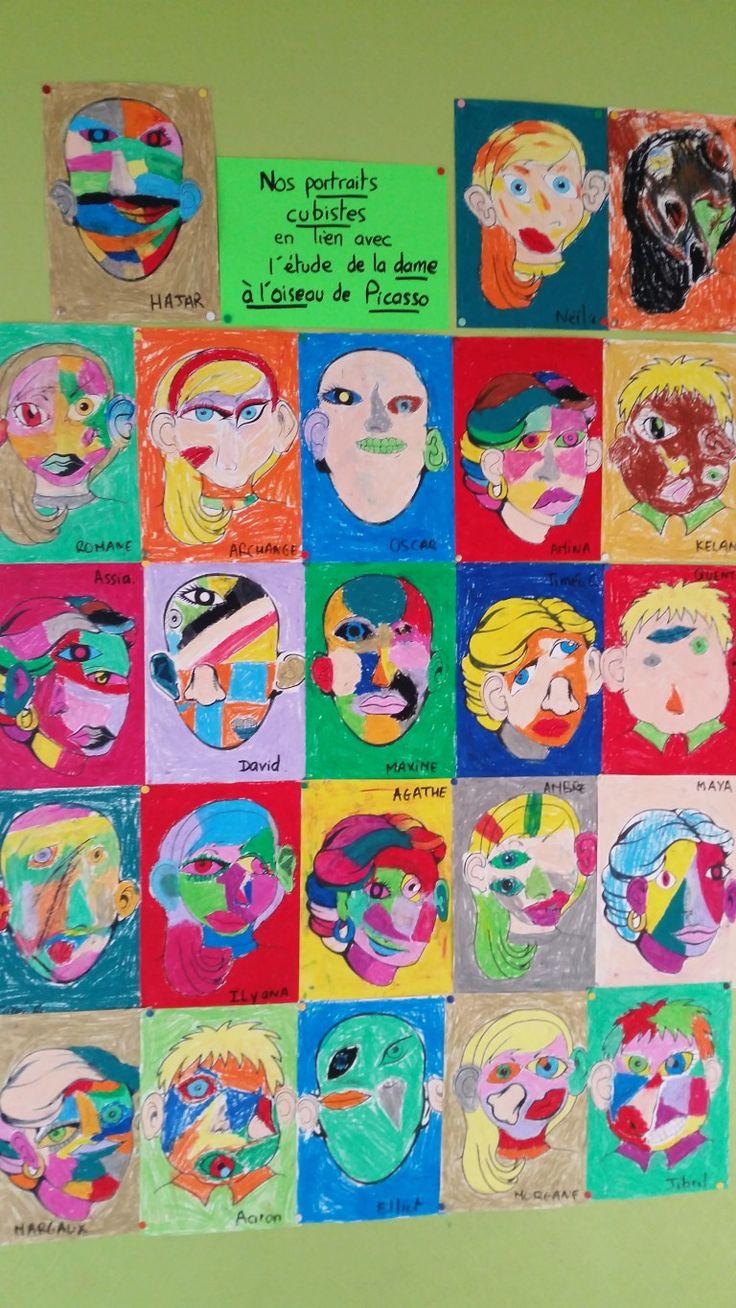 Portraits cubistes et cama¯eux de Picasso