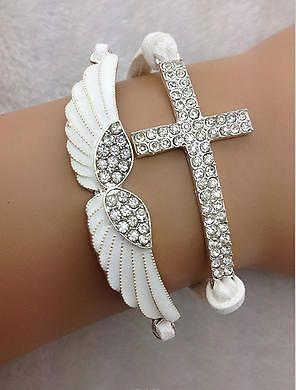 Crystal Angel Wing Adjustable Bracelet