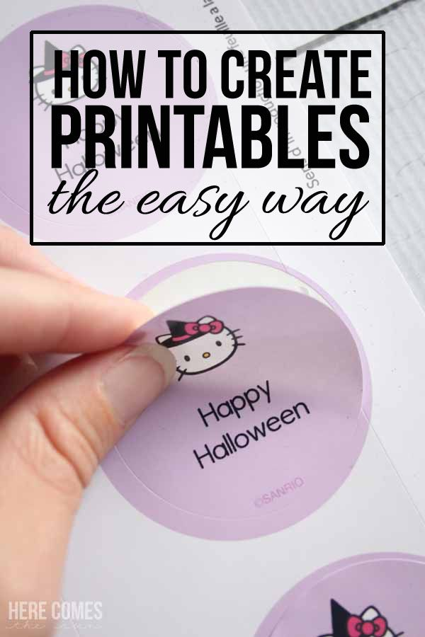 How to create printables the easy way design your own stickershow