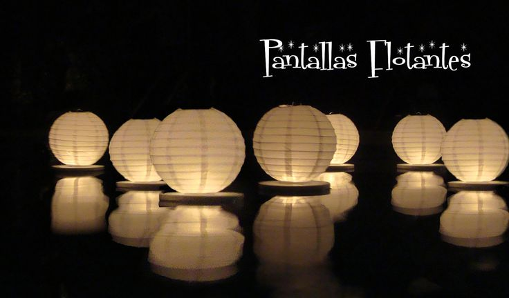 Floating paper lanterns, perfect if there is a pool