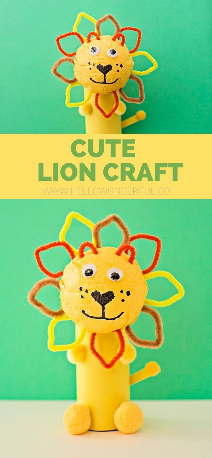 Cute Paper Tube Lion Craft Crafts Pinterest Crafts Crafts For