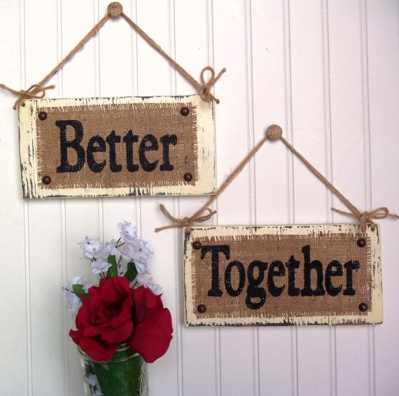 www.etsy.com, Wedding Chair Signs Better Together, Photo Prop Reception, reception decor, bride and groom, mr and mrs. $32.00, via Etsy.