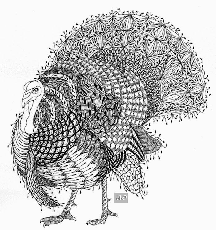 Ben Kwok — Thanksgiving-Turkey (698×744) | Colour pencil ...