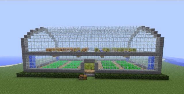 This greenhouse is amazing. It'll definitely keep the villagers from screwing up the other crops