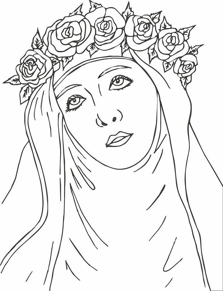 30 de agosto d a de santa rosa de lima http for St rose of lima coloring page