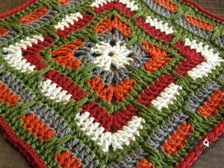 """As part of the KCACO-UK CAL for 2015, I present the Larksfoot Inspired 12"""" Granny Square."""