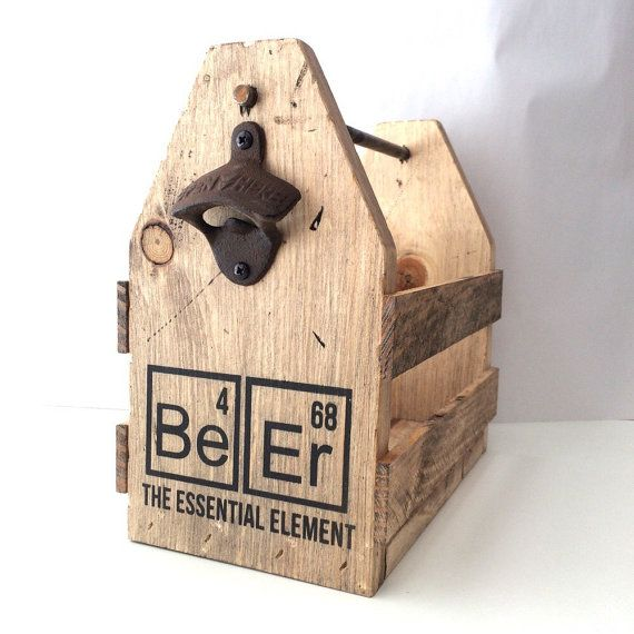 Beer holder wood beer holder bottle opener six by FreestyleMom
