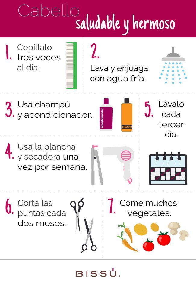 7 hábitos para el cuidado de tu cabello.