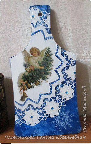 Декор предметов Новый год Декупаж Опыты имитации  2 Дерево фото 1