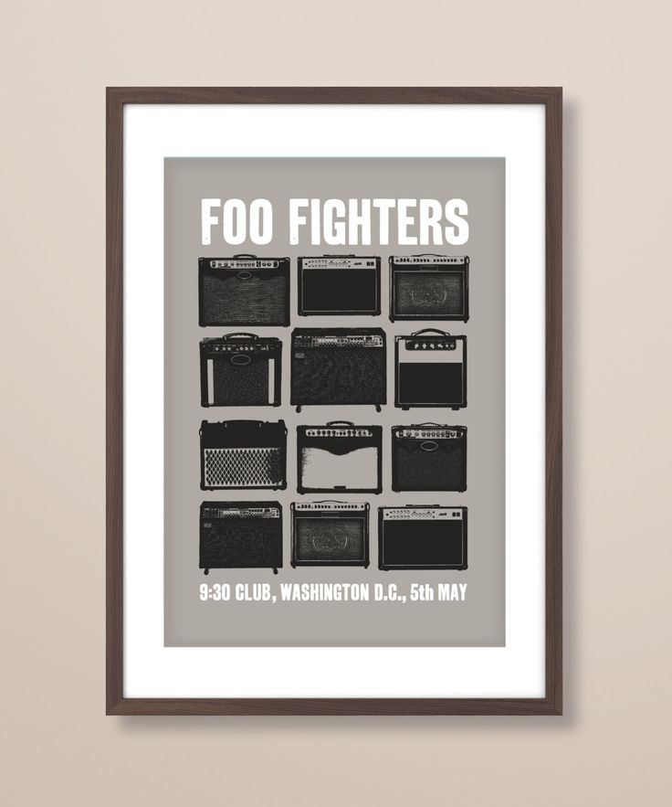 Foo Fighters concert poster art, Foo Fighters poster print, music inspired print, Foo Fighters gig poster, Foo Fighters, concert poster by TheIndoorType on Etsy https://www.etsy.com/listing/211023969/foo-fighters-concert-poster-art-foo