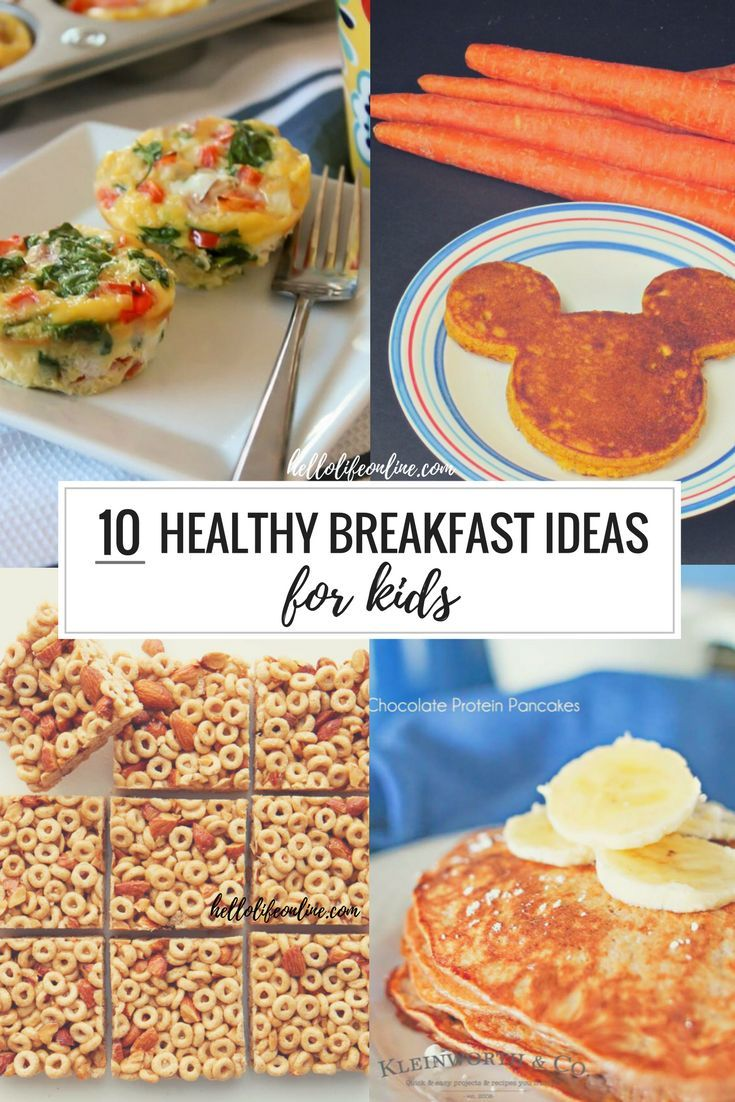 This collection of 10 healthy breakfast ideas for kids is full of great ideas for us moms on the go. Some are quick, some may take some careful planning. All are good and tasty options to get your child ready to tackle all the day has in store!""