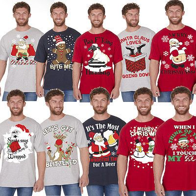 #Men's #christmas #novelty print t shirt explicit top funny rude joke xmas gift,  View more on the LINK: 	http://www.zeppy.io/product/gb/2/182332900541/