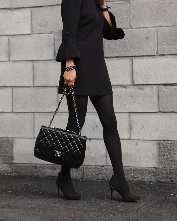 Ted Baker from @townshoes + Chanel jumbo flap bag in patent leather