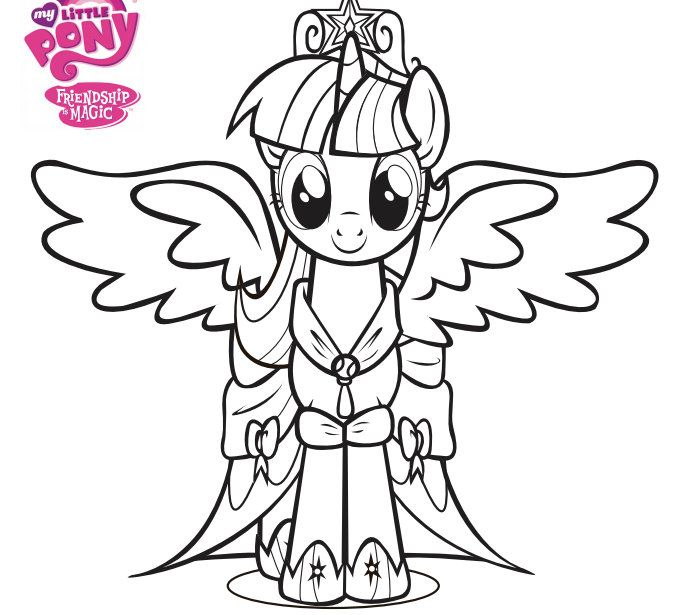 My Little Pony Coloring Pages Dress : My little pony princess coronation twilight sparkles