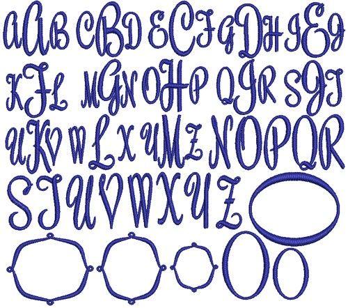 Circle Monogram Font Generator Monogram generator circle