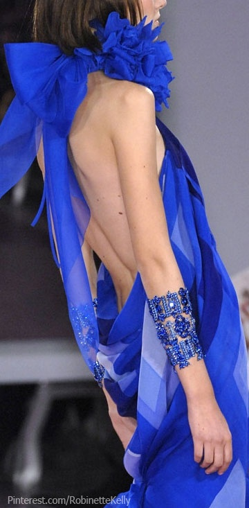 Christian Lacroix | Cobalt Blue .....what a stupid looking Mess!