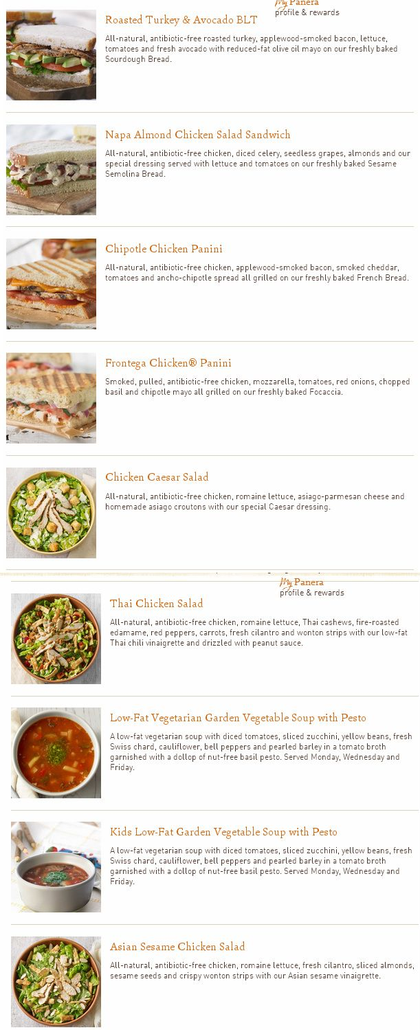 gluten free panera 11 menu items  grain brain diet ♥ wheat belly recipes at carbswitch.com  Share the h☺alth : Please Repin. ►♥◄ Wheat Belly to WHAT Belly.