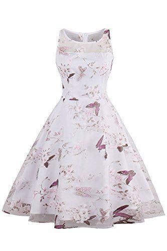 3d039193e914 Retro Swing Homecoming Dresses 1950s Floral Spring Garden Party Picnic Dress         AMAZON BEST BUY     RetroFashion