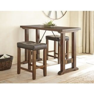 Conway Industrial Style 3-piece Counter Height Dining Set by Greyson Living | Overstock.com Shopping - The Best Deals on Dining Sets