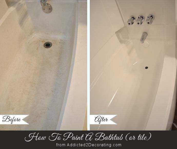 7 things you didn't know you could paint: Your Ugly Bathtub. DON'T use leftovers from your last project, obviously. You can clean up the look of your dingy bath with @rustoleum's Specialty Tub & Tile Refinishing Kit. Get the full how-to and learn how the stuff holds up VIA @a2dkristi