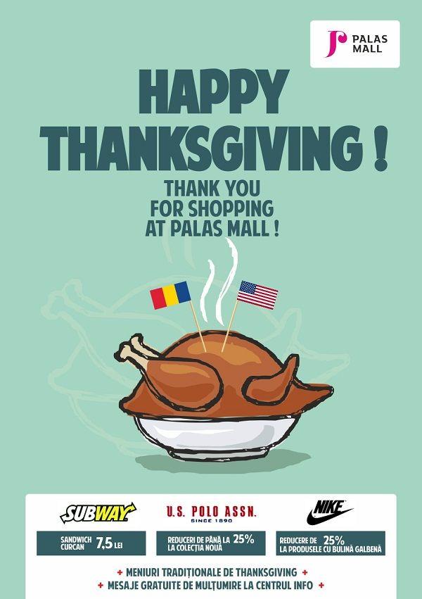 """Ansamblul urbanistic Palas Iasi sărbătoreşte """"Ziua Recunoştinţei"""" sau """"Thanksgiving Day"""""""
