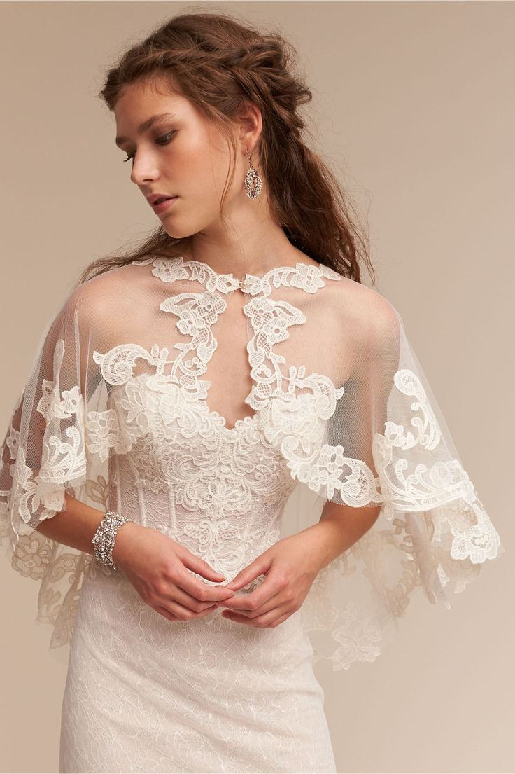 lace coverup | Adorlee Cape from BHLDN