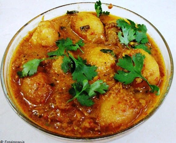 Baby Potatoes in spicy yogurt gravy! The royal dish known as 'DUM ALOO'