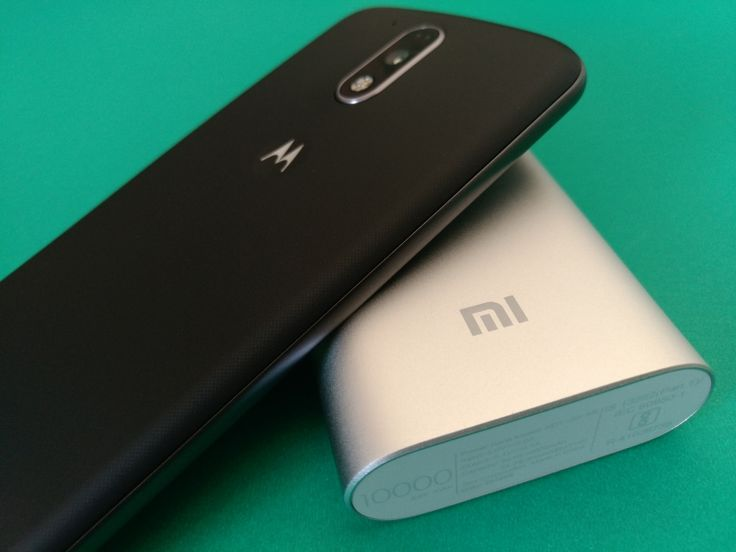 How the Xiaomi 10000mAh Power Bank Charges the Moto G4 Plus