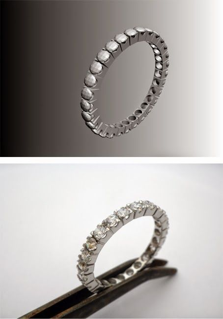 - the creative act -  ''luminous ring'', 3d jewelry design, ..  sterling silver, zircon