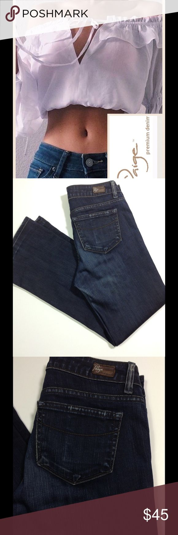 """🆕 Paige Jeans Paige Melbourne Bootcut Jeans, Dark Washed, Distressed, New (Paper Tag Still on Inside), Price Tag Missing, Waist 32"""" (Flat ) Rise 8 1/2"""", Length 29"""", Cuff 9"""" Paige Jeans Jeans Boot Cut"""