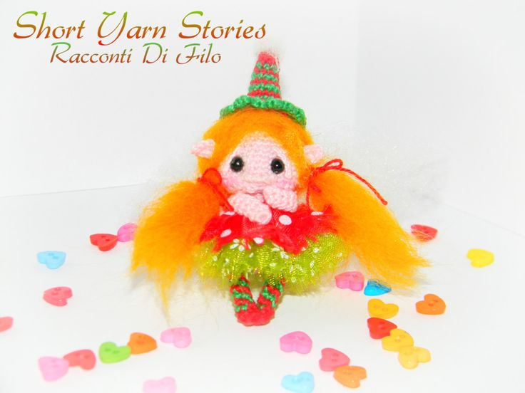 Little Baby Christmas Elf Doll / Amigurumi Elf Doll / Christmas Doll / Doll Miniature / Collectible Doll / Dollhouse / Crochet Miniature by ShortYarnStories on Etsy