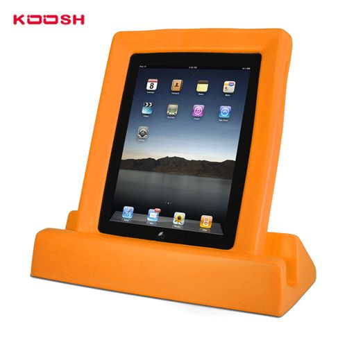 Koosh Durable frame and stand for iPad for kids - Orange + Bonus Stylus | Our #1 iPad protective case for kids. | Made of safe, non-toxic EVA foam, lightweight, easy to grip and more! #iPad #kids #protective #koosh