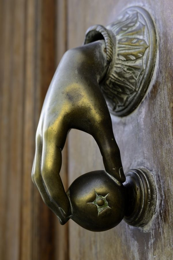 """Funny doorknocker   """"The Hand"""" by John Fields"""