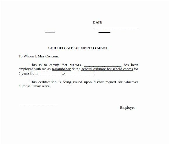 Certificate Of Employment Doc Luxury Sample Certification Letter Philippines Certificate Danny Mission Statement Examples Certificate Templates Elegant Words