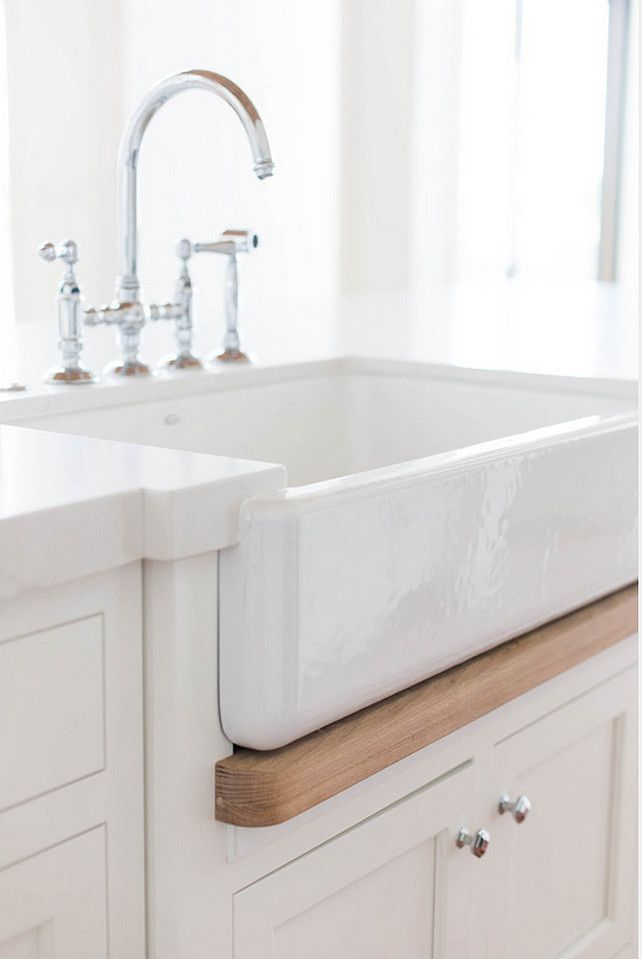 Wood Detail Under Sink.