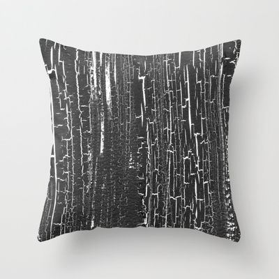 Cracks Throw Pillow by Alina Sevchenko - $20.00