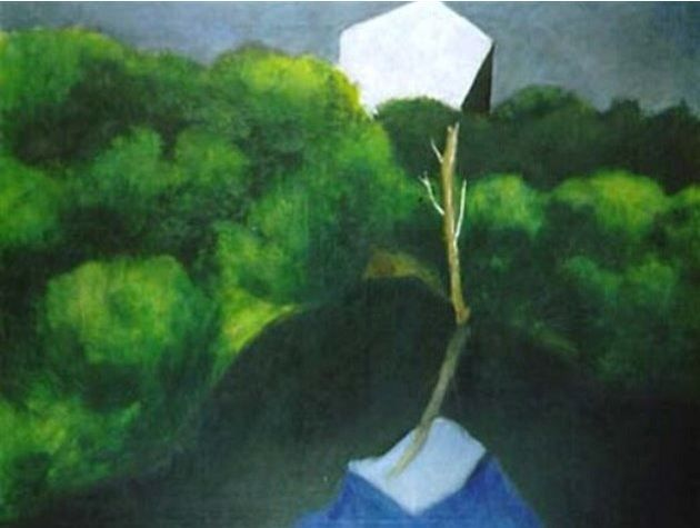 Josef Šíma - Landscape (1929) #art #painting #Czechia