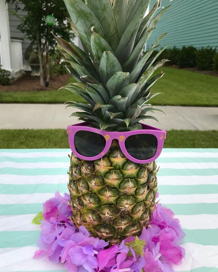 Luau Theme block party - summer pineapple