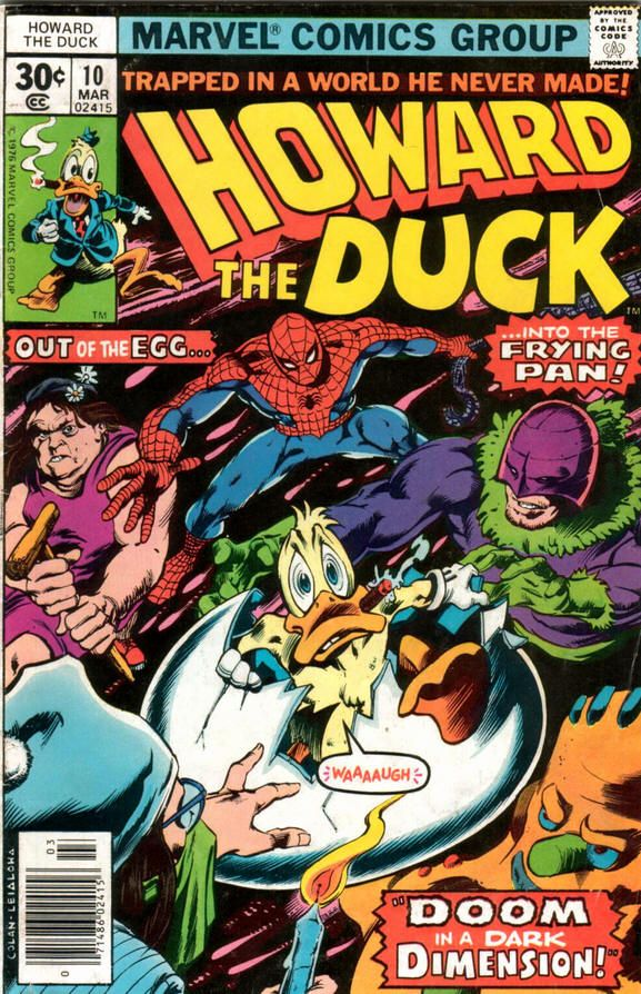 Howard The Duck Comic Books | Howard the Duck #10 comic book from Marvel Comics Group