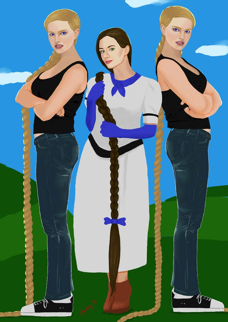Laura and the Twins (Lucy and Linda) by JohnHeavy.deviantart.com on @DeviantArt