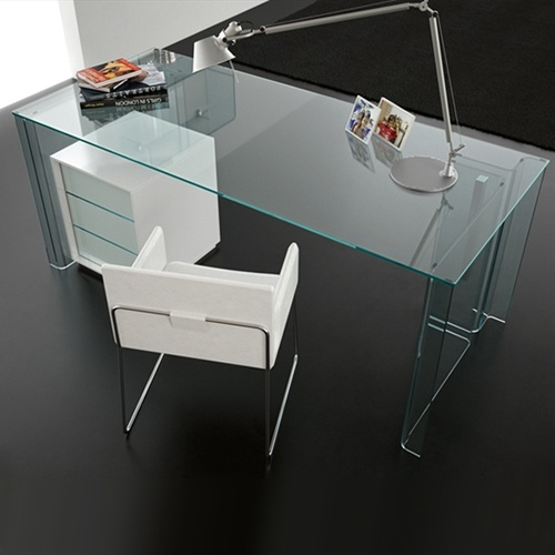 modern home office glass desk