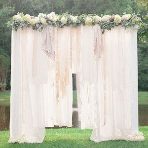 "What bride wouldn't want to say ""I do"" beneath the Breathtaking Bohemian Outdoor Wedding Altar? This stunning spring wedding idea comes with a step-by-step tutorial!"