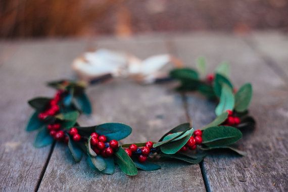 Christmas Holly Flower Crown