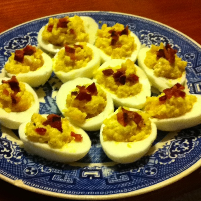 egg sandwich with bacon and blue cheese bacon blue cheese deviled eggs ...