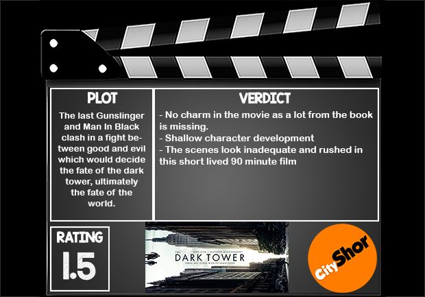 Movie Review - The Dark Tower #MovieReview #Hollywood #Entertainment #TheDarkTower #CityShorBangalore