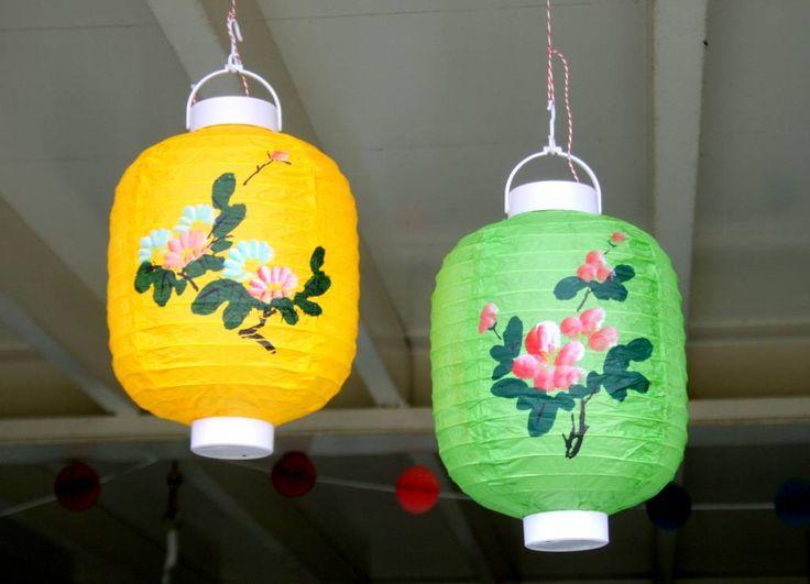 Vrolijke, decoratieve lampion (groen)