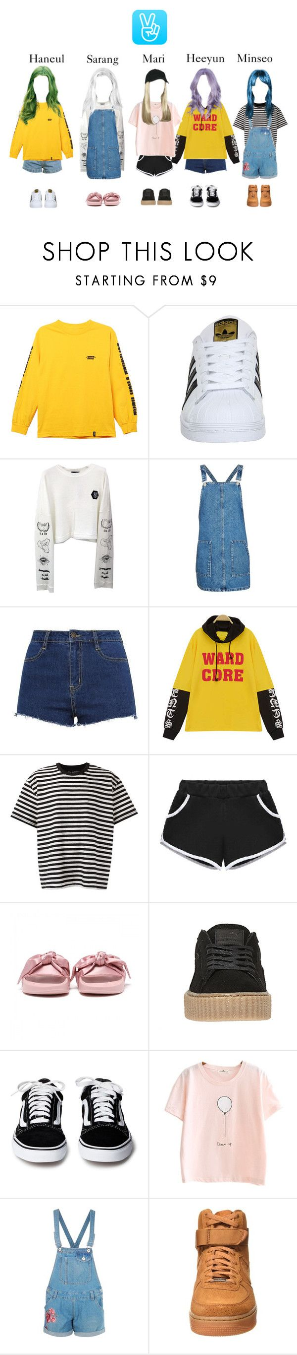 """""""V App! Having Fun!"""" by abyssofficial ❤ liked on Polyvore featuring HUF, adidas, Topshop, ZALORA, À La Garçonne, Boohoo and NIKE"""