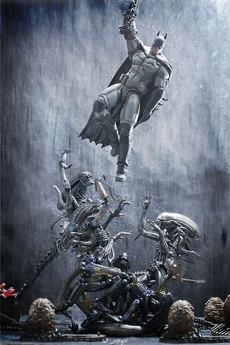 world 4 - batman vs aliens | Flickr - Photo Sharing! sir_winger